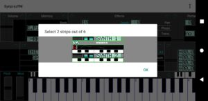 FM Synthesizer screen 4